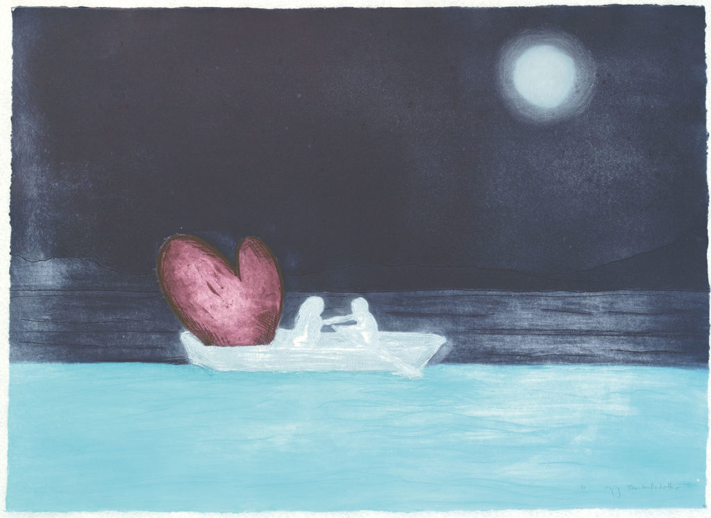 Kjærlighetslasten holder kursen stø av kunstner Björg Thorhallsdottir